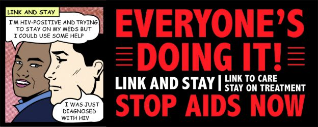 LINK AND STAY - Stop AIDS header